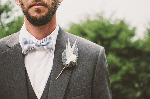 Groom, Beard, Bow Tie, Brooch, Fashion, Formal