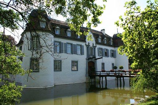 Castle, Moated Castle, Bottmingen, Switzerland, Inn