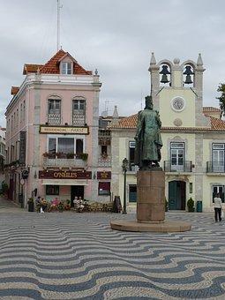 Cascais, Portugal, Space, Monument, Statue, Church