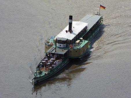 Steamboat, Steamer, Ship, Elbe, Pirna, Pd Pirna
