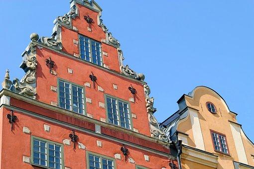 Facade, Gable, Sweden, Stockholm, Historically