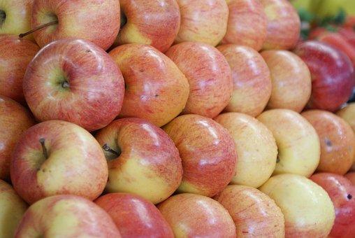 Fruit, Apples, Market, Guayaquil, Ecuador