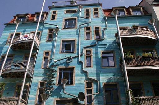 Dresden, Trendy, Artist Quarter, Neustadt, Modern Art