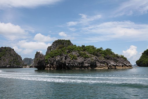 Turtle Rock, Rock, Water Sea, Ocean, Vietnam