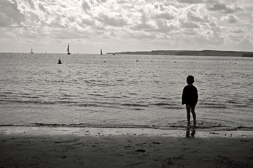 People, Child, Kid, Young, Water, Sea, Tides, Waves