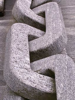 Granite, Chain, Stone, Grey, Art, Sculpture