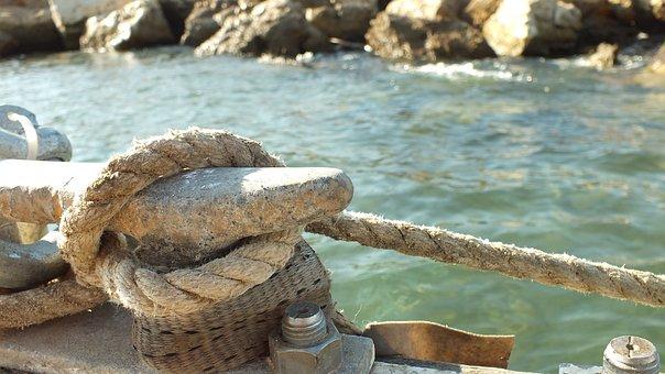 Sea, Rope, Ocean, Retro, Boat, Ship, Old, Rope Border