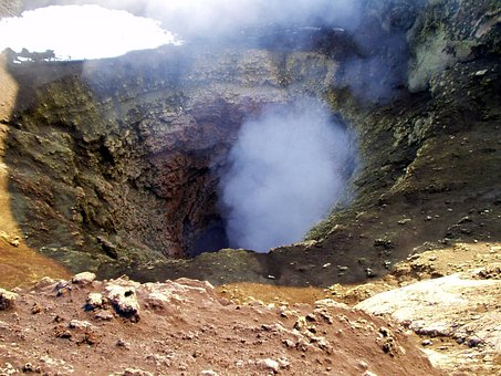 Volcano, Crater, Volcanism, Hot, Volcanic, Steam, Maw