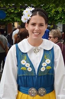 Woman, Young Lady, Lady, Tradition, Sweden