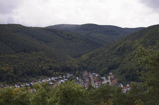 View, Palatinate Forest, Village, Summer, Rain, More