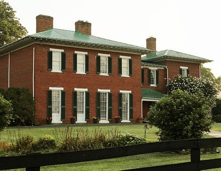 House, Virginia, Georgian, Home, Residence, Rural