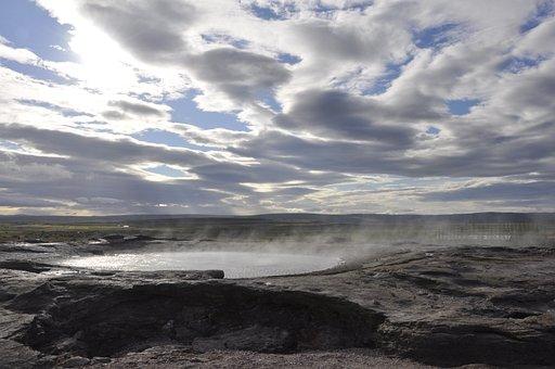 Geyser, Iceland, Water, Steam, Geothermal, Volcanic