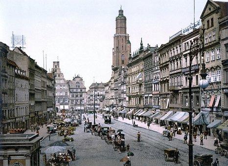 Marketplace, Elisabeth Church, Wroclaw, Wrocław Ring