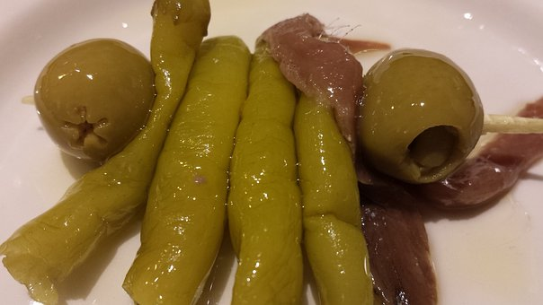 Gilda, Skewer, Olive, Anchovy, Cooking, Top