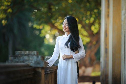 Adult, Asian, Attractive, Blur, Dress