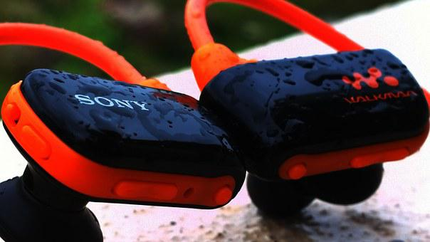Earphones, Headphones, Sony, Walkman, Music, Audio