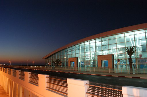 Airport, Tunisia, Airport At Night, Building, Mood