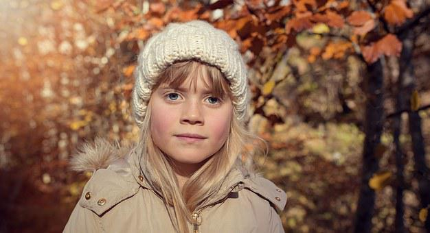 Person, Human, Child, Girl, Blond, Cap, Autumn, Out