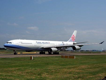 China Airlines, Airbus A340, Aircraft, Airplane