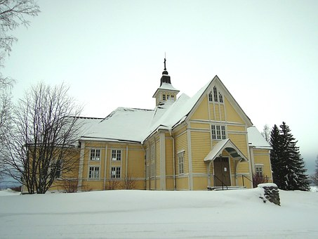 Church, Religion, Lutheran, Finnish, Cruciform Church