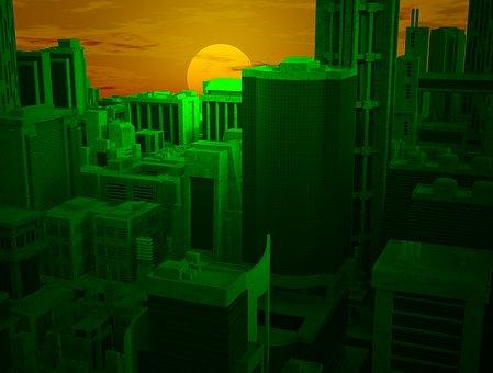 City, Urban, Sunset, Skyline, Urban City, Cityscape