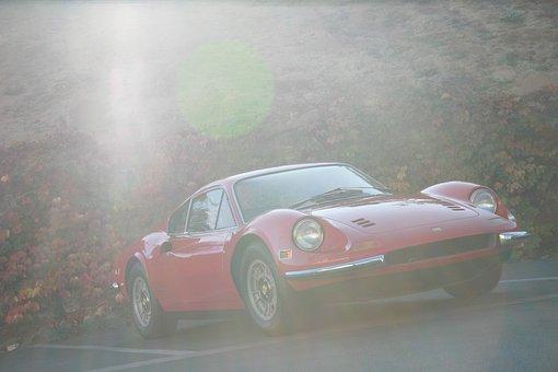 Dino, Ferarri, Car, Automobile, Sports Car, Classic Car