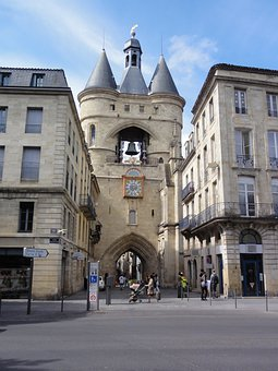 Bassens, France, Buildings, Gate, Stone, Arch, Bell