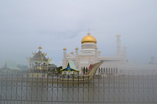 Mosque, Golden, Brunei, Bandar Seri Begawan