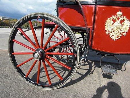 Wagon Wheel, Horse Drawn Carriage, Vienna, Austria