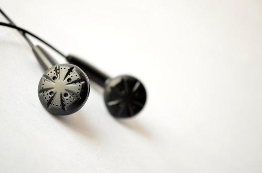 Earphones, Black, Iem, Inears, Headphones