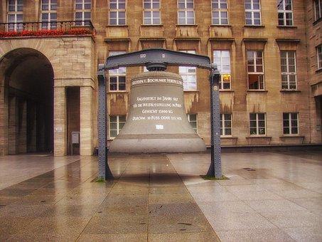 Bochum, Germany, Bell, Large, Landmark, Historic