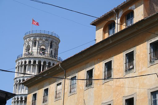 Pisa, Italy, Leaning, Tower, Building