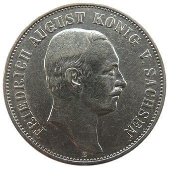 Mark, Saxony, Friedrich August, Coin, Money, Currency