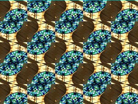 Mosaic, Mosaic Table, Pattern, Turquoise, Artfully