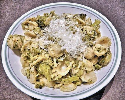 Pasta, Orichetti Pasta, Broccoli, Pecorino Cheese
