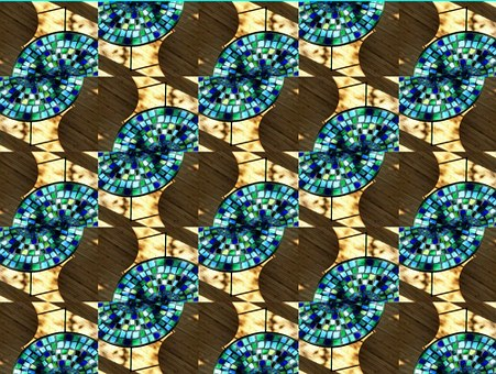 Mosaic, Mosaic Table, Pattern, Turquoise, Artfully