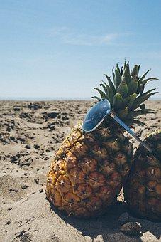 Beach, Blue Sky, Fruit, Golden, Pineapple, Resort, Sand