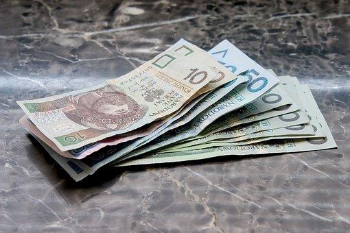 Money, Euro Banknotes, Polish Banknotes, Pln, Polish