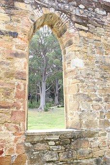 Church, Window, Stone, History, Port Arthur, Religion