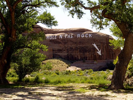 Hole In The Rock, Massive, Rock Formation, Red, Arizona