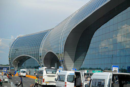 Building, Airport, Domodedovo, Moscow, Russia