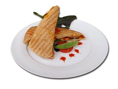 Food, Panini, Bread, Sandwich, Dish, Cafe, Restaurant