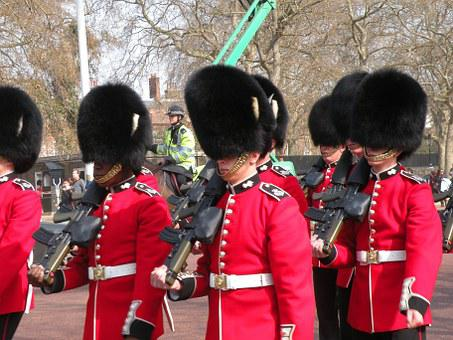 Soldier, London, Police, Guard, Uniform, Red, Uk