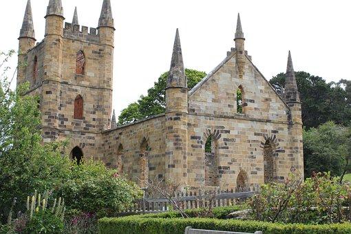 Port Arthur, Church, History, Ruins, Stone