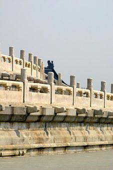 Balustrade, Balcony, Wall, Sun, Temple, China