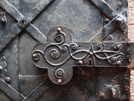 Haut-koenigsbourg, Castle, Door, Fitting, Alsace