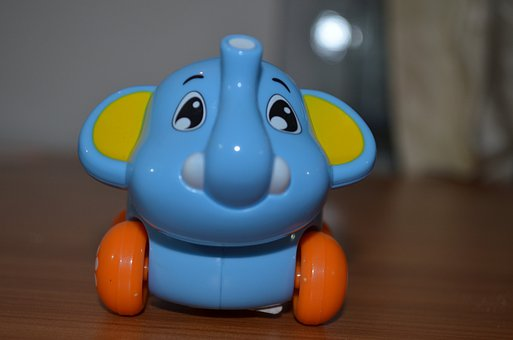 Toy, Elephant, Animal, Baby, Fun, Happy, Kid, Childhood