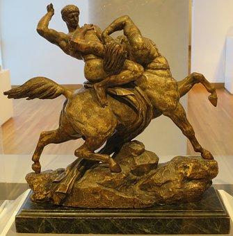 Theseus, Battling, Centaur, Antoine, Louis, Barye