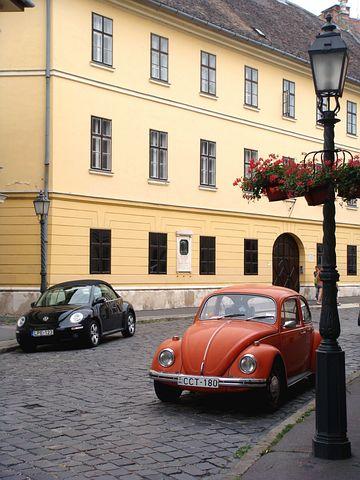 Beetle, Car, Budapest, Volkswagen, New Beetle, Street