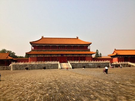 Shrine, Forbidden Palace, Beijing, China, Architecture